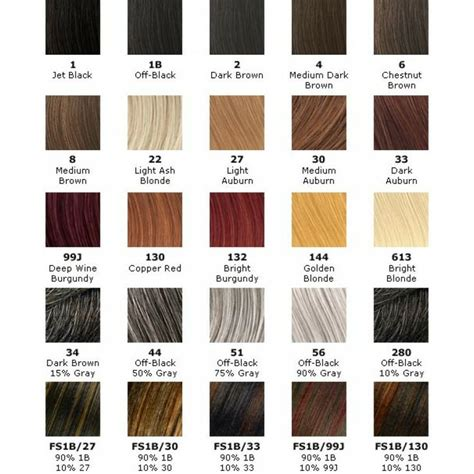 Hair Color Chart For Braids | x pression hair color hair pinterest colors hair