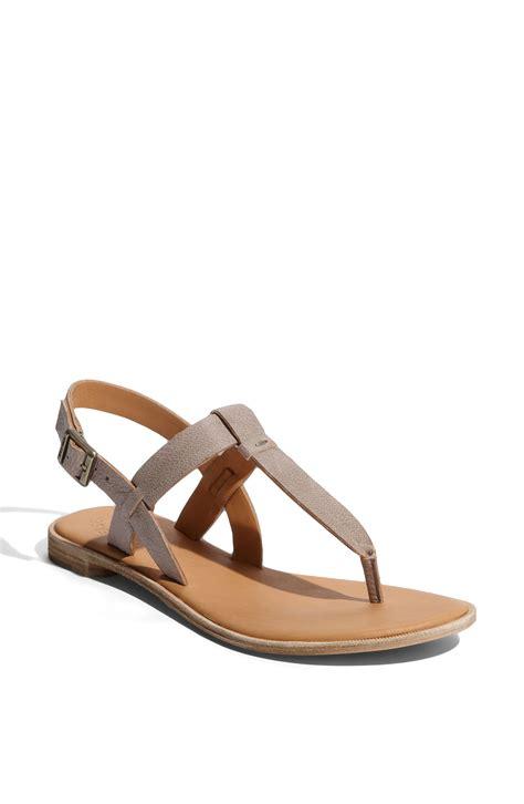 kork ease shoes kork ease kork ease katherine sandal in gray grey lyst
