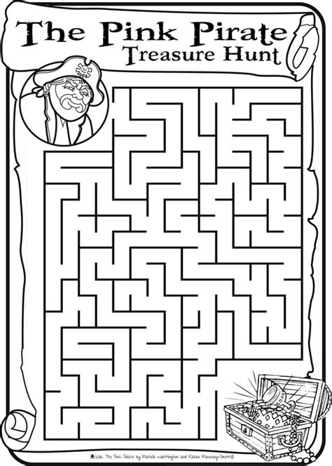 printable pirate maze pirate maze and word find part 1 pirates pinterest
