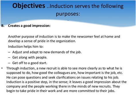 purpose of the inductor recruitment 5