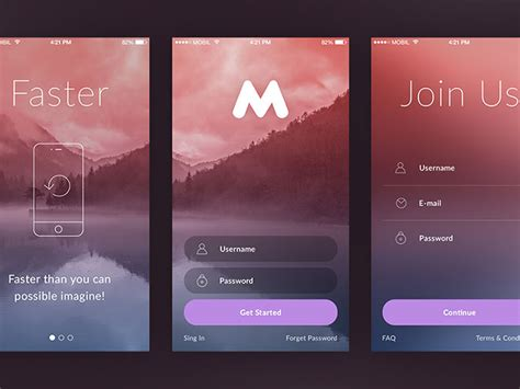 login screen templates 50 modern sign up login form ui designs web graphic