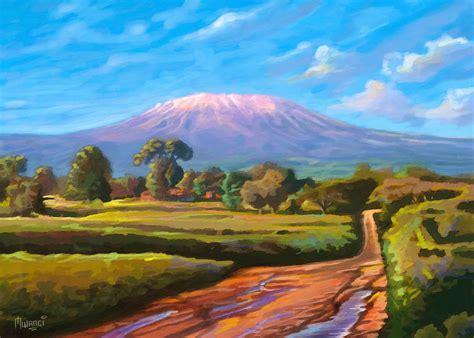 painting montana kilimanjaro painting by anthony mwangi