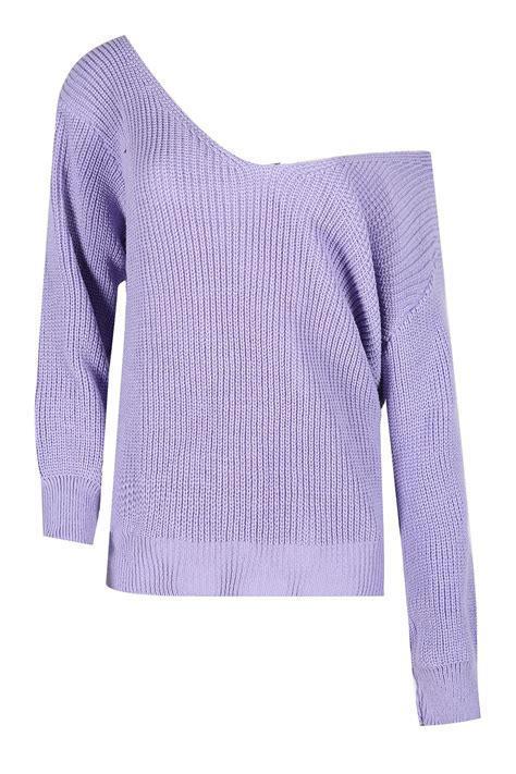 chunky knit jumper womens womens oversized the shoulder chunky knit jumper