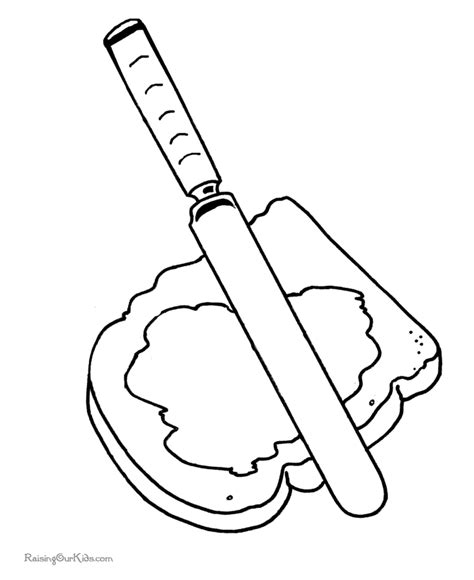free coloring pages of sandwich
