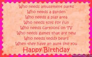 birthday poems for aunt wishesmessages com