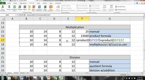 tutorial excel 2013 formulas excel 2013 tutorial for noobs part 6 basic formulas math