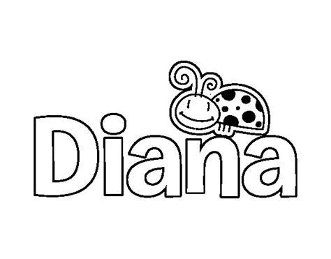 imagenes que digan diana dibujo de nombre diana para colorear dibujos net