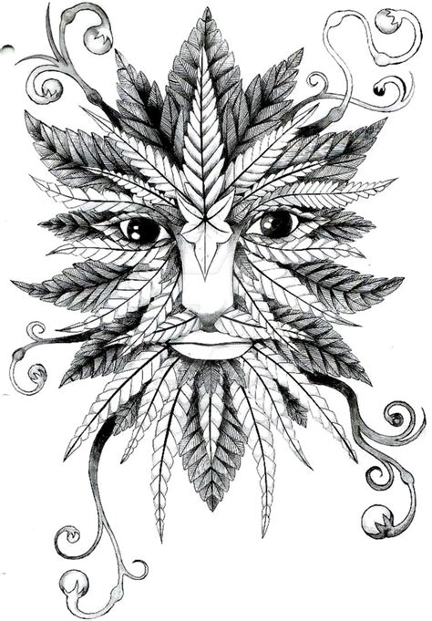 green man tattoo design by roxenabernardi on deviantart