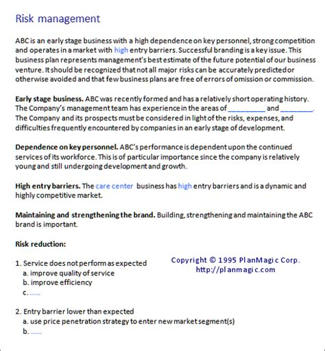 risk management plan template risk management plan sle www imgkid the image