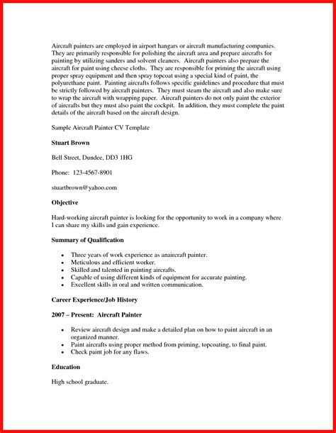 Journeyman Painter Sle Resume by Journeyman Painter Resume Apa Exle