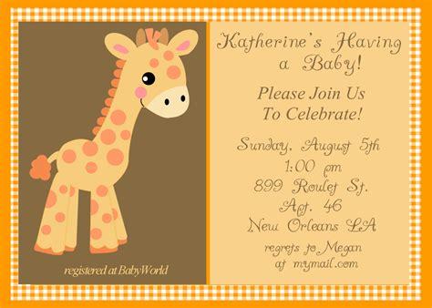 giraffe baby shower invitations template giraffe baby shower invitations dolanpedia invitations ideas