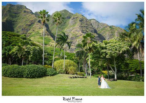 Garden Oahu Wedding At Kualoa Ranch Paliku Gardens Right Frame
