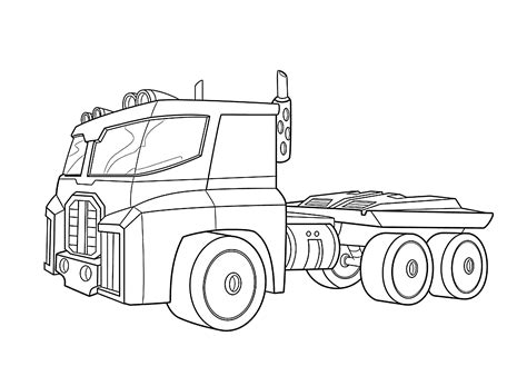 rescue truck coloring page optimus prime bot coloring pages for kids printable free