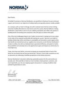 Thank You Letter Ceo A Letter From Our Ceo Norman Distribution