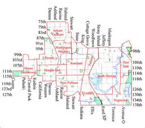Chicago Map South Side chicago map south side