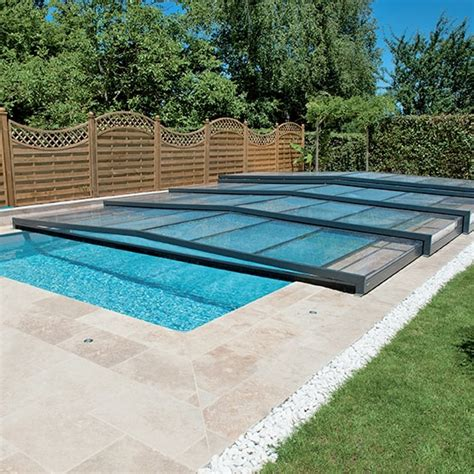 Abri De Piscine Rideau by Abri De Piscine Semi Plat Collection Elliptik Abri De