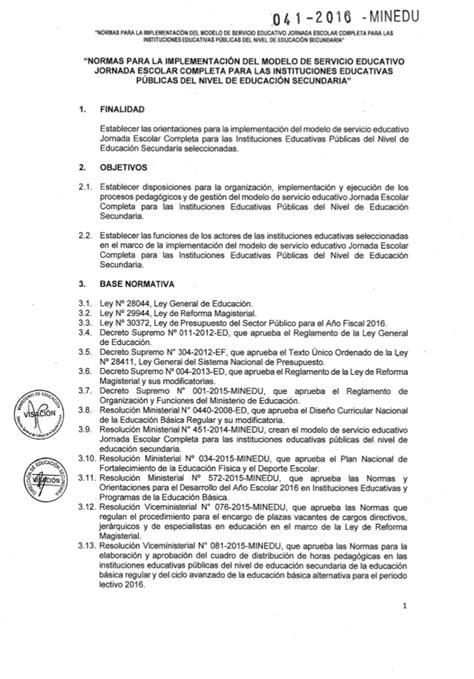 Minedu Programaciones Jec Cta 3 Secundaria | rsg n 176 041 2016 minedu nt jec