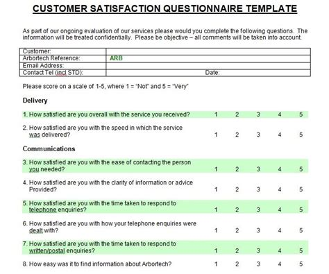 Printable Customer Satisfaction Survey Template Microsoft Word Project Management Customer Survey Chart Template