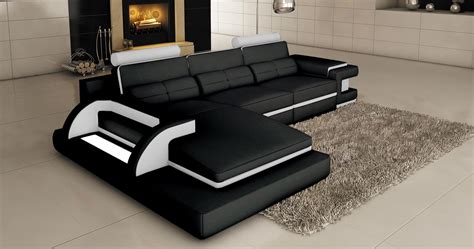 canape blanc d angle deco in canape d angle cuir noir et blanc design