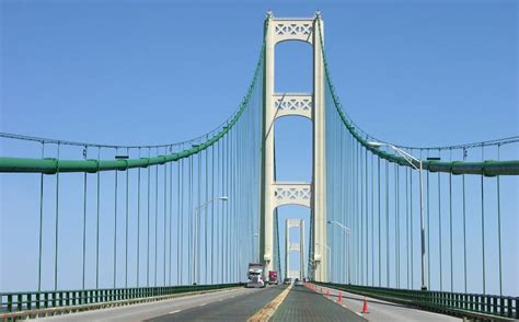 mighty mac the bridge that michigan built books mackinac bridge home