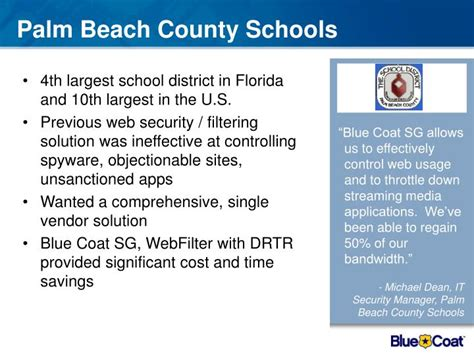 Mba Programs In Palm County by Ppt Secure The Web With Blue Coat Stop The Bad Allow