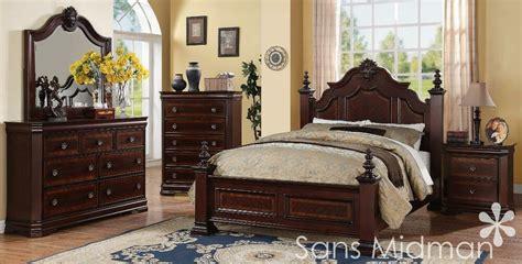 chanelle queen size bed  piece set cherry bedroom furniture  nightstands ebay
