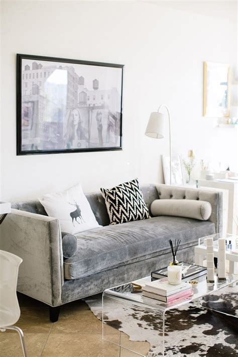 Gray Living Room Apartment Therapy Living Room Inspiration Clear Acrylic Coffee Tables A
