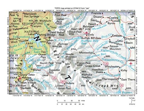 map south fork colorado area south fork shoshone river snake river drainage divide area