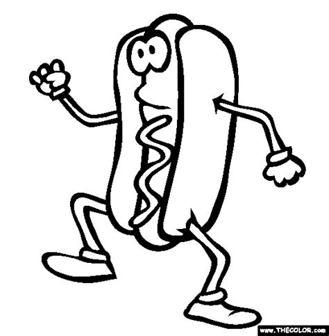 coloring pages of hot dogs free online coloring pages thecolor