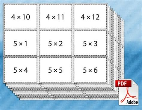 Math Flash Card Template Free by Best 25 Multiplication Flash Cards Ideas On