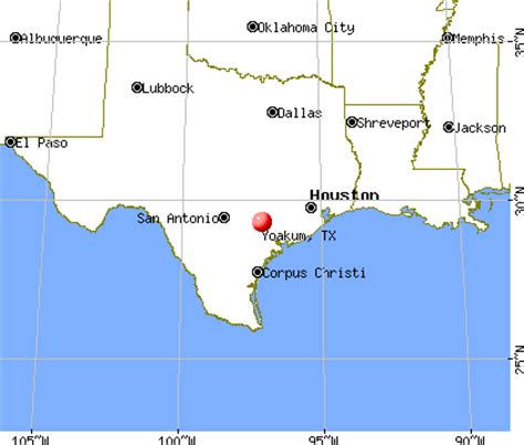 yoakum texas map yoakum texas
