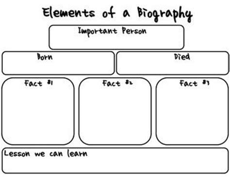 short biography research graphic organizer reading pinterest the world s catalog of ideas