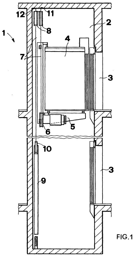 elevator shaft section patent ep0924156b1 elevator with onboard driving means