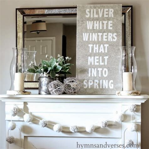 winter mantel decorating ideas winter mantel and winter shelf decorating ideas