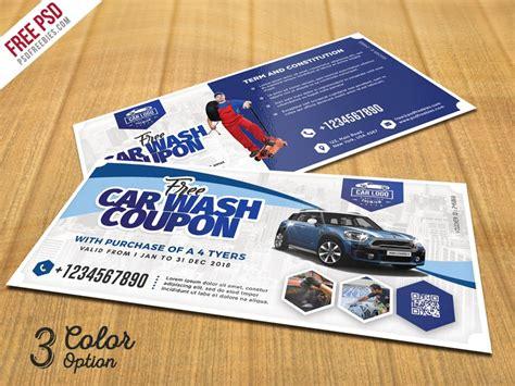 discount card template psd automobile coupon voucher template psd psd