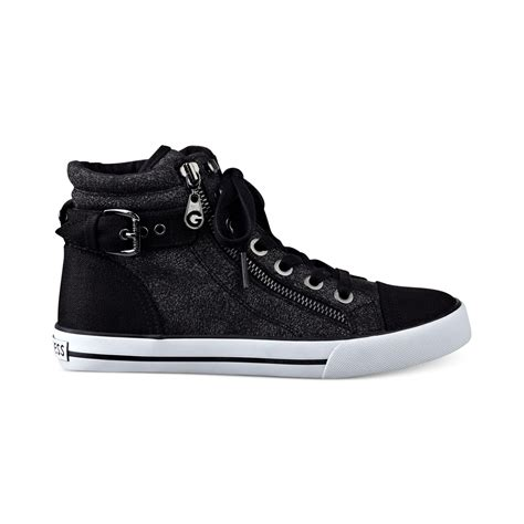 womans high top sneakers g by guess s olama high top sneakers in black lyst