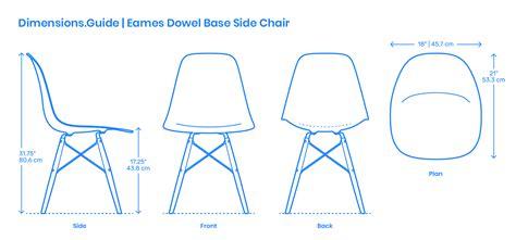 eames dowel base side chair dimensions drawings dimensionsguide