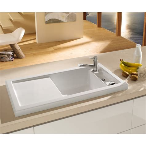 villeroy and boch kitchen sinks villeroy boch metric 60 1000mm x 510mm 1 25 bowl