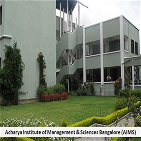 Acharya Institute Of Management Mba by Acharya Institute Of Management And Sciences Bangalore