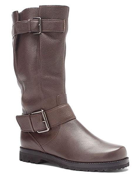 gentle souls boots gentle souls buckled up boots in brown bark lyst