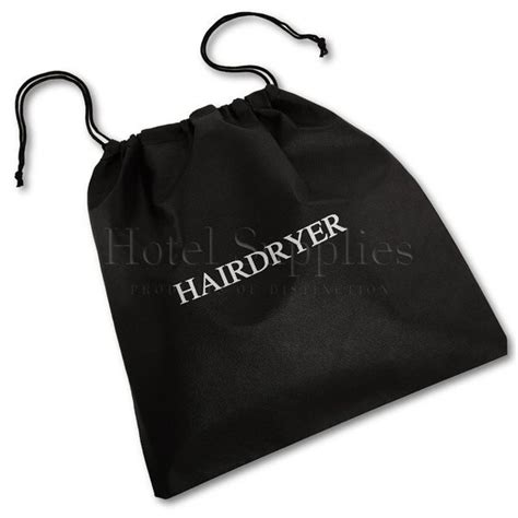 Hair Dryer Bag White non woven hairdryer bags black