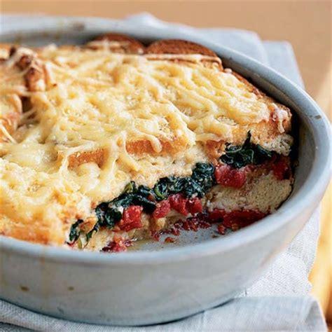 recipe for strata spinach and tomato strata recipe myrecipes