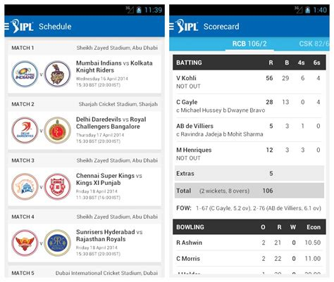 best android app 2014 top android apps to follow the ipl 2014