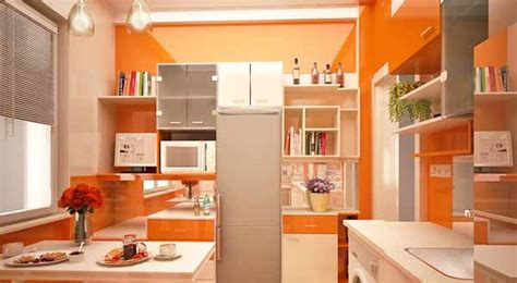 modern kitchen design by gemelli design orange and green colors