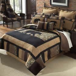 Real Tree Comforter Camo Bear Quilt Bedding Collection