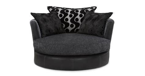 Shannon Black Fabric Set Inc Corner Sofa Swivel Chair 2 Swivel Chair Sofa