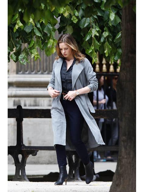 rebecca ferguson mission impossible  grey long coat instylejackets
