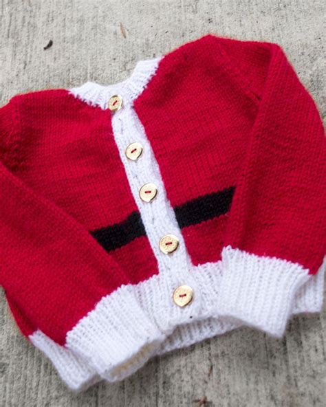 free knitting pattern ugly christmas sweater free baby santa sweater pattern knit crochet pinterest