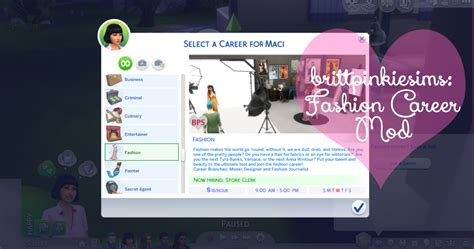 actress career sims 4 my sims 4 blog updated the sims 4 fashion career mod