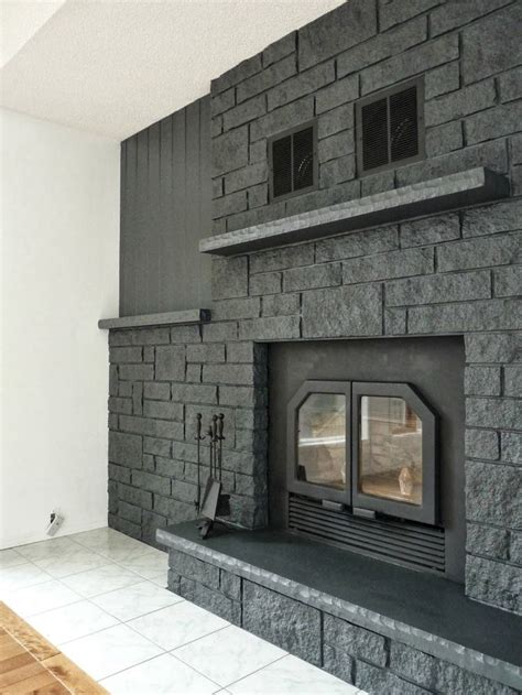 floor charcoal brick fireplace painted best 25 painted fireplace ideas on